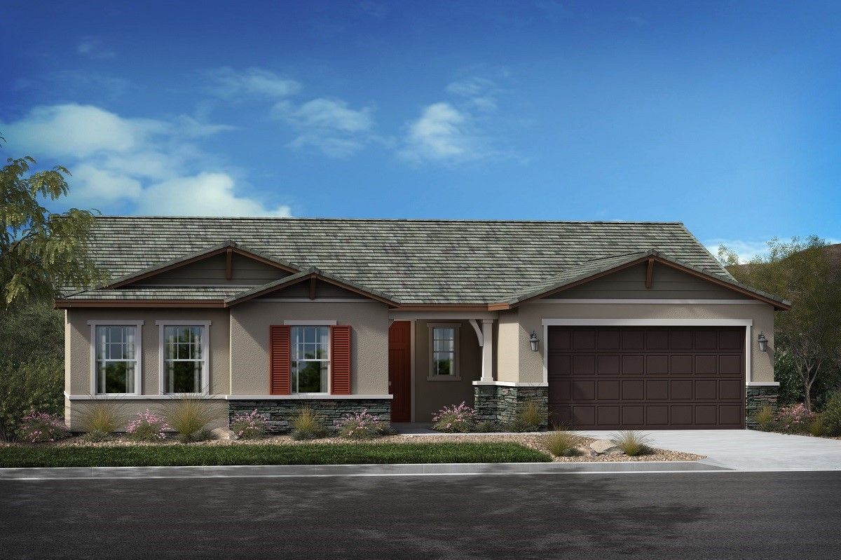 Exterior featured in the Plan 2384 Modeled By KB Home in San Diego, CA