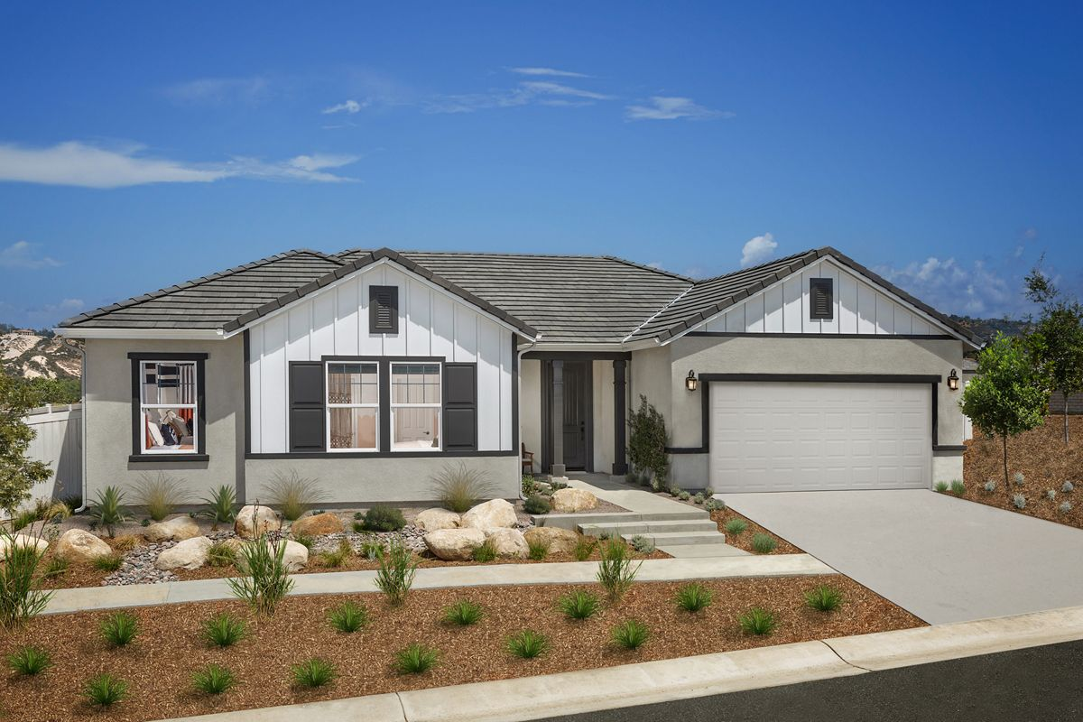Exterior featured in the Plan 2061 Modeled By KB Home in San Diego, CA