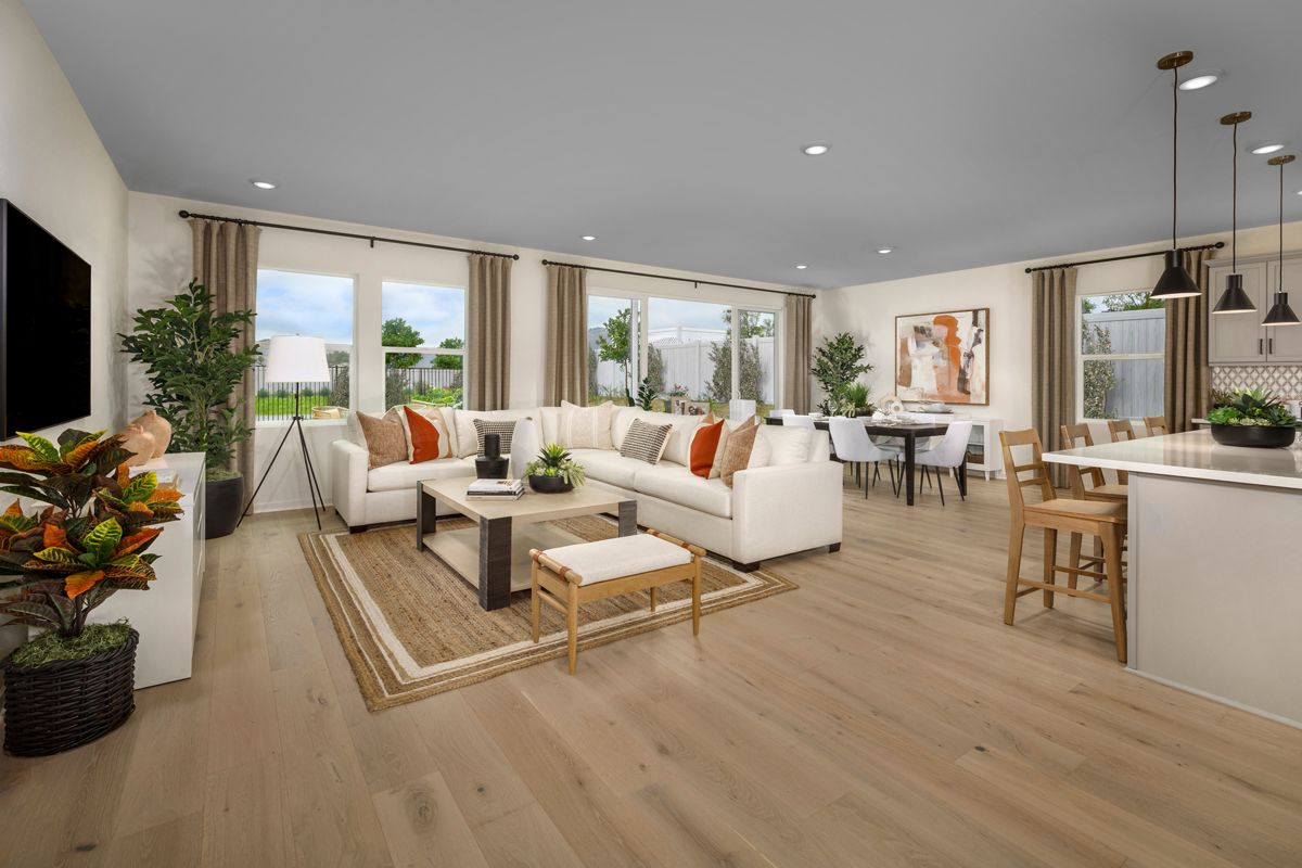 Living Area featured in the Plan 2061 Modeled By KB Home in San Diego, CA