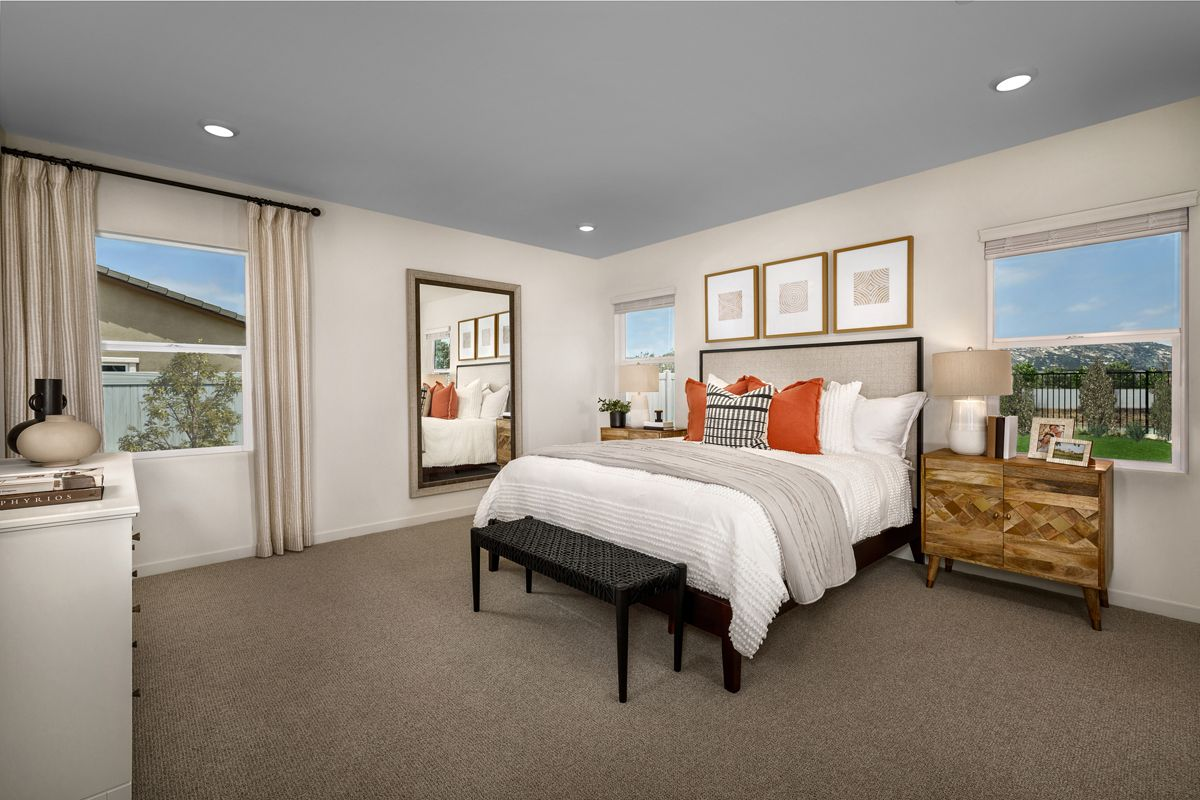Bedroom featured in the Plan 2061 Modeled By KB Home in San Diego, CA