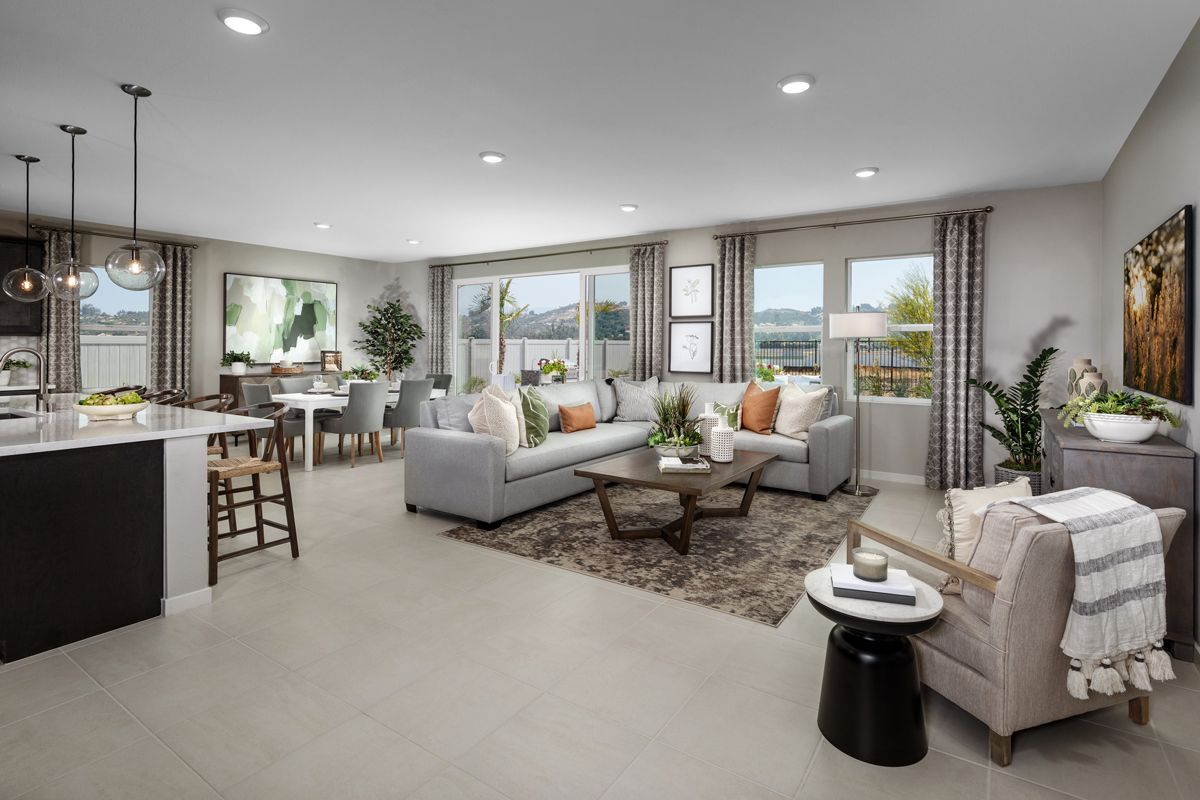 Living Area featured in the Plan 2620 Modeled By KB Home in San Diego, CA