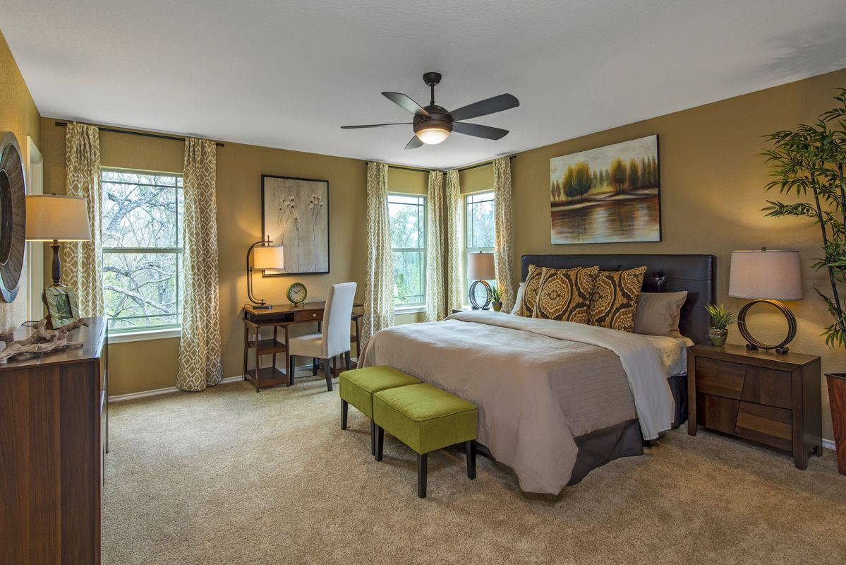 Bedroom-in-Plan 2411-at-CrossCreek - Sterling and Heritage Collections-in-San Antonio