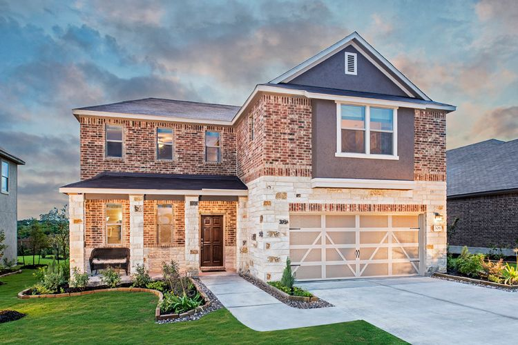 Exterior featured in the Plan 2502 Modeled By KB Home in San Antonio, TX