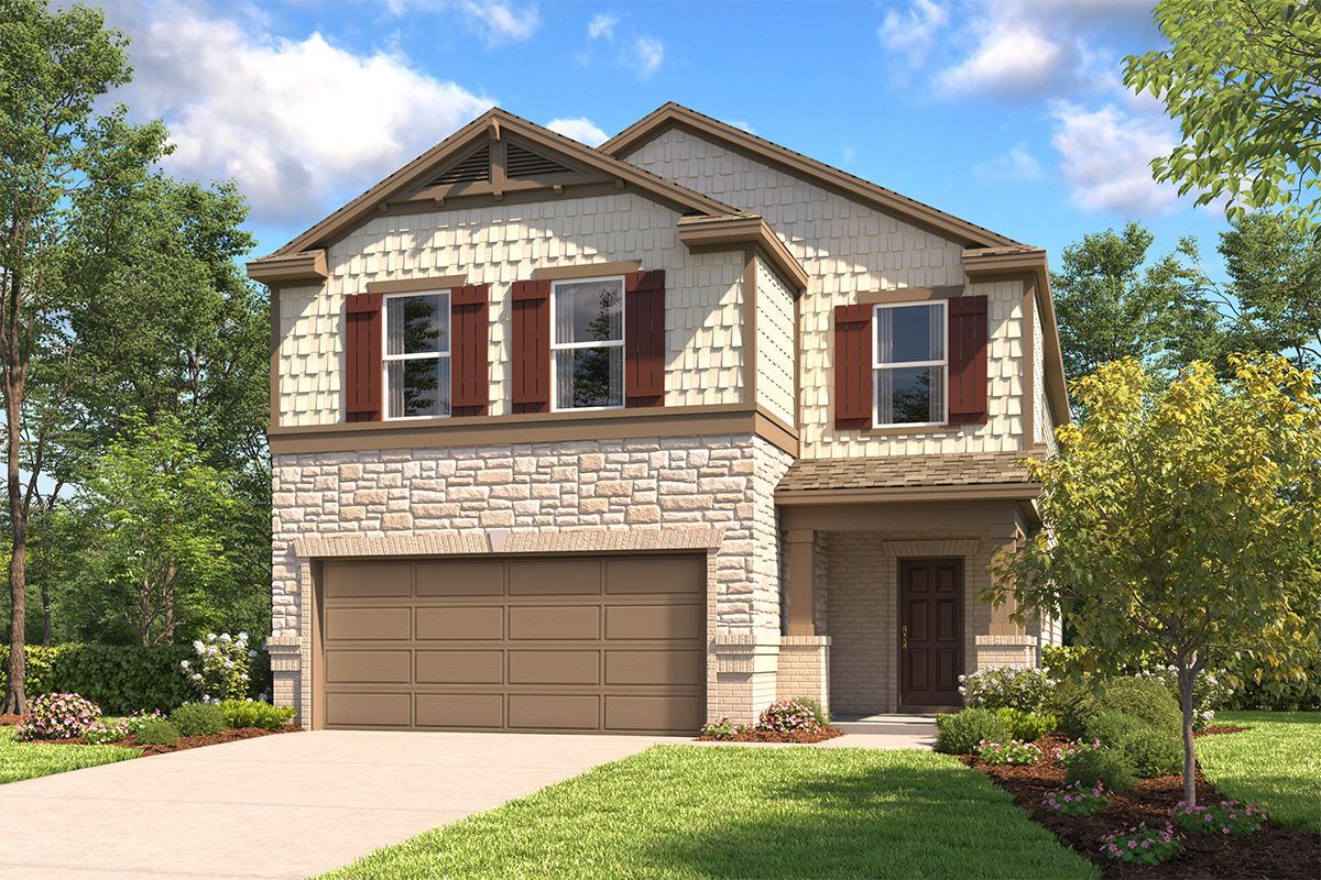 Exterior featured in the Plan 2745 By KB Home in San Antonio, TX
