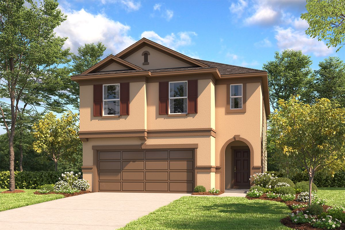 Exterior featured in the Plan 2314 By KB Home in San Antonio, TX