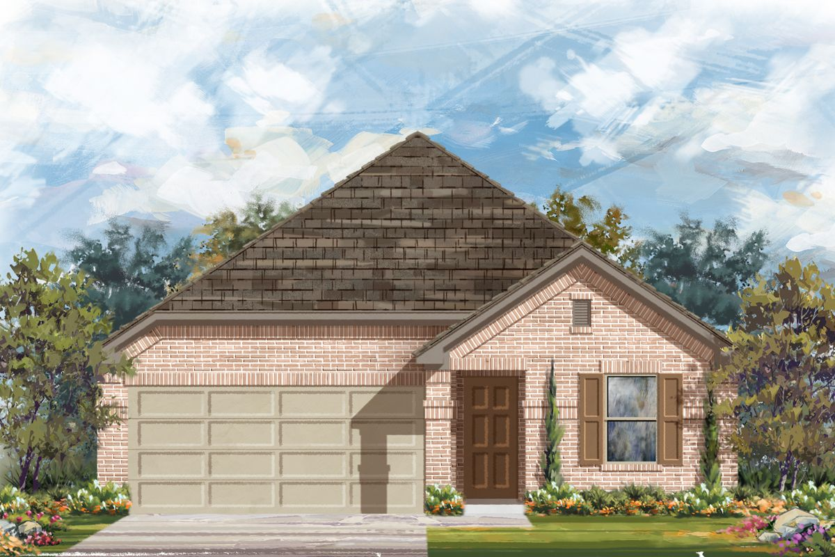 Exterior featured in the Plan 1647 Modeled By KB Home in San Antonio, TX