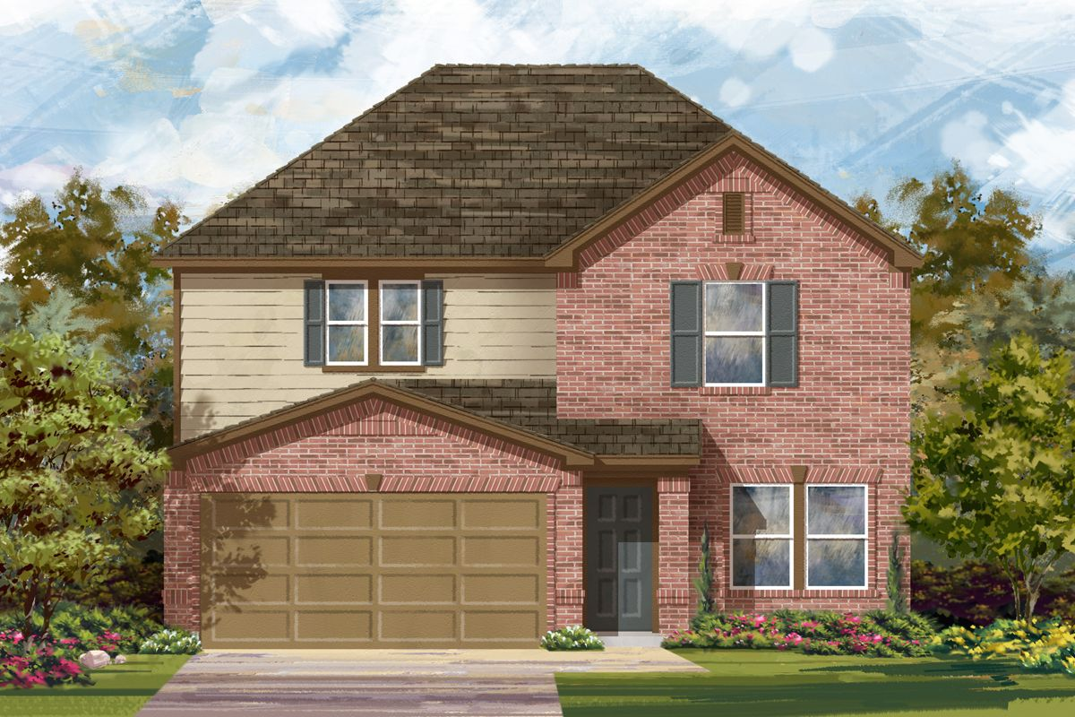 Exterior featured in the Plan 2700 By KB Home in San Antonio, TX