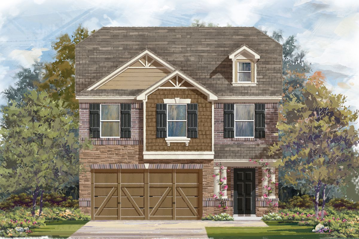 Exterior featured in the Plan 1909 By KB Home in San Antonio, TX