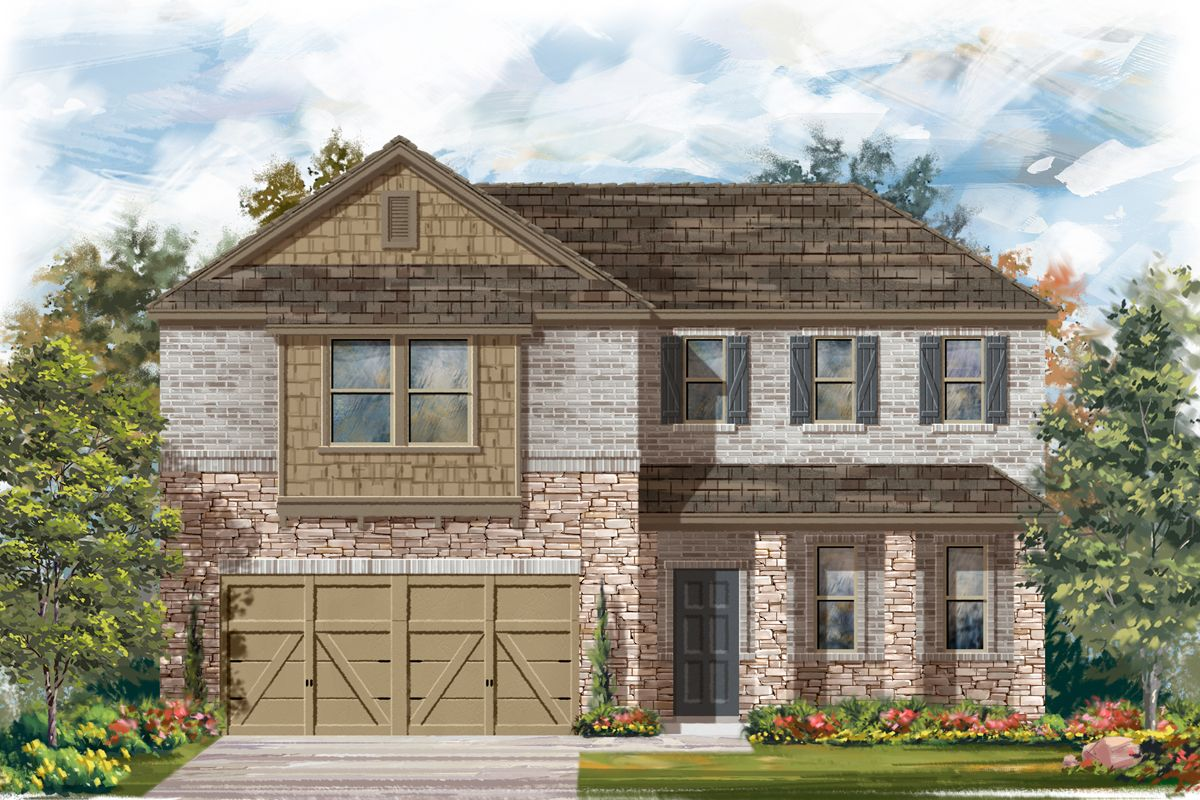 Exterior featured in the Plan 2502 By KB Home in San Antonio, TX