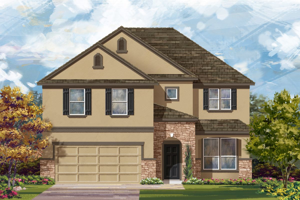 Exterior featured in the Plan 2469 By KB Home in San Antonio, TX