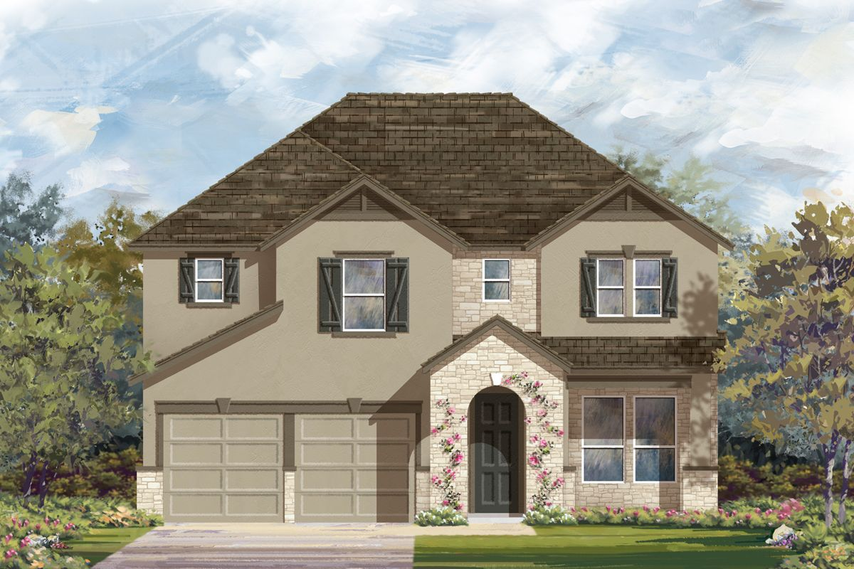 Exterior featured in the Plan 2755 Modeled By KB Home in San Antonio, TX