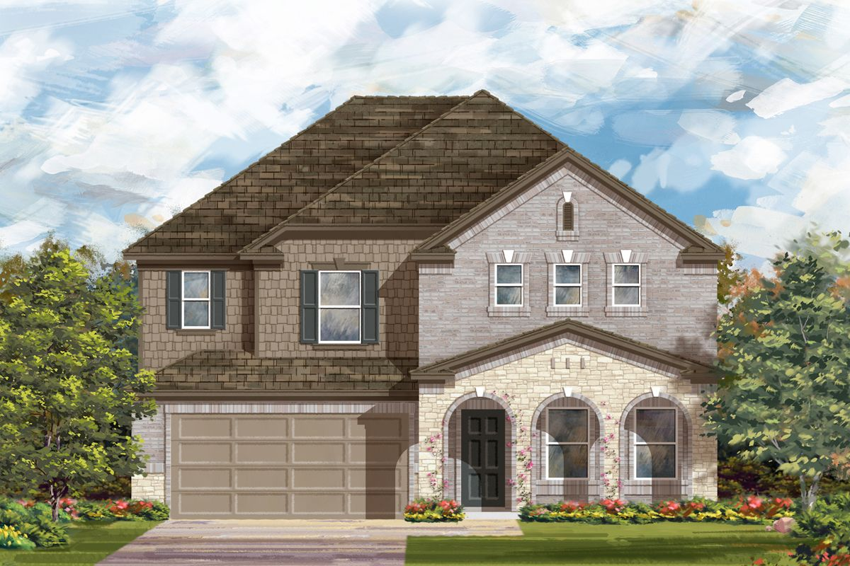 Exterior featured in the Plan 2881 By KB Home in San Antonio, TX