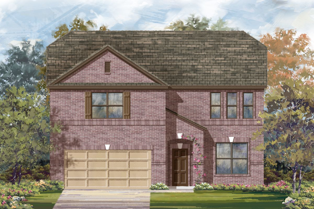 Exterior featured in the Plan 3417 By KB Home in San Antonio, TX