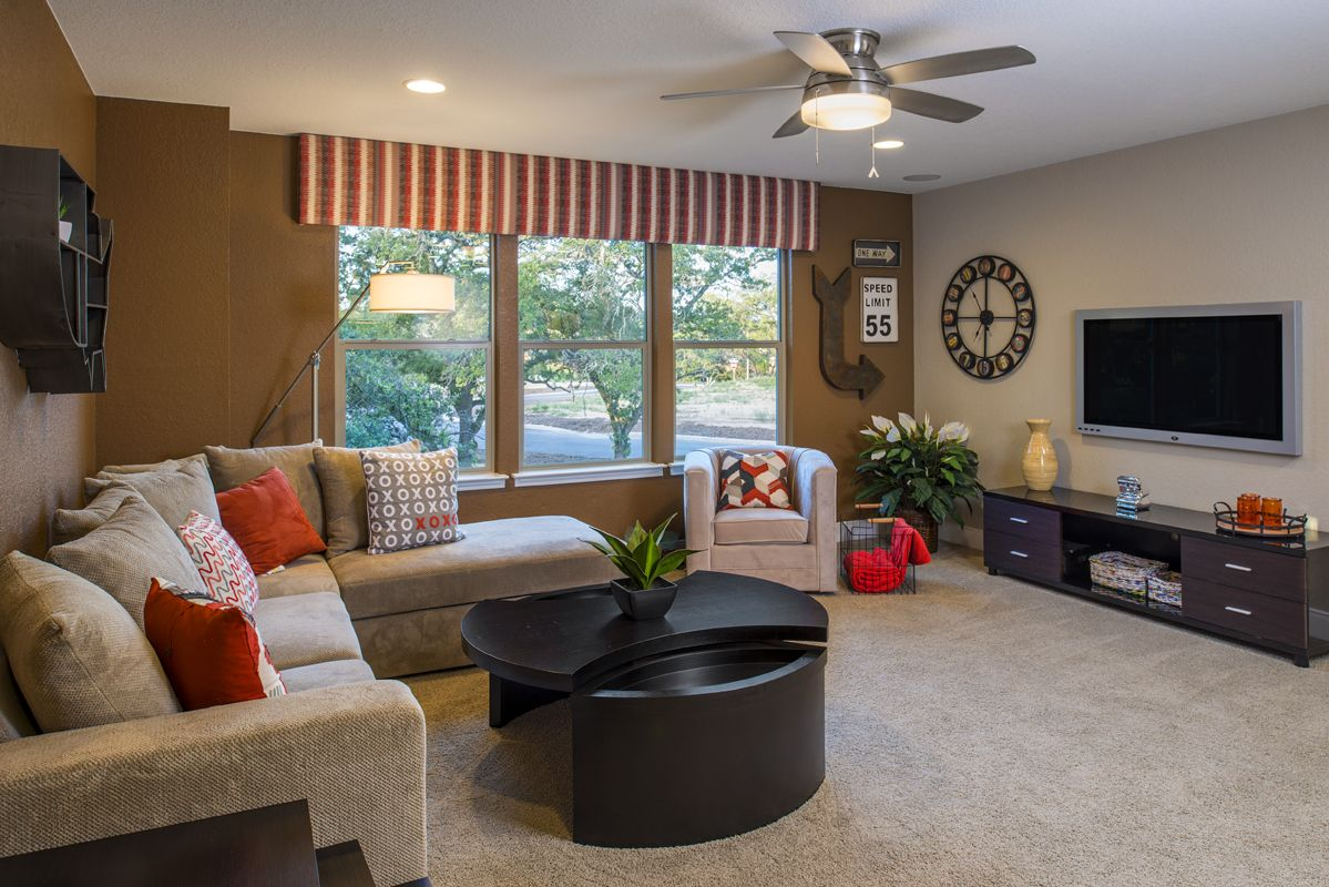 Living Area featured in the Plan 3475 By KB Home in San Antonio, TX