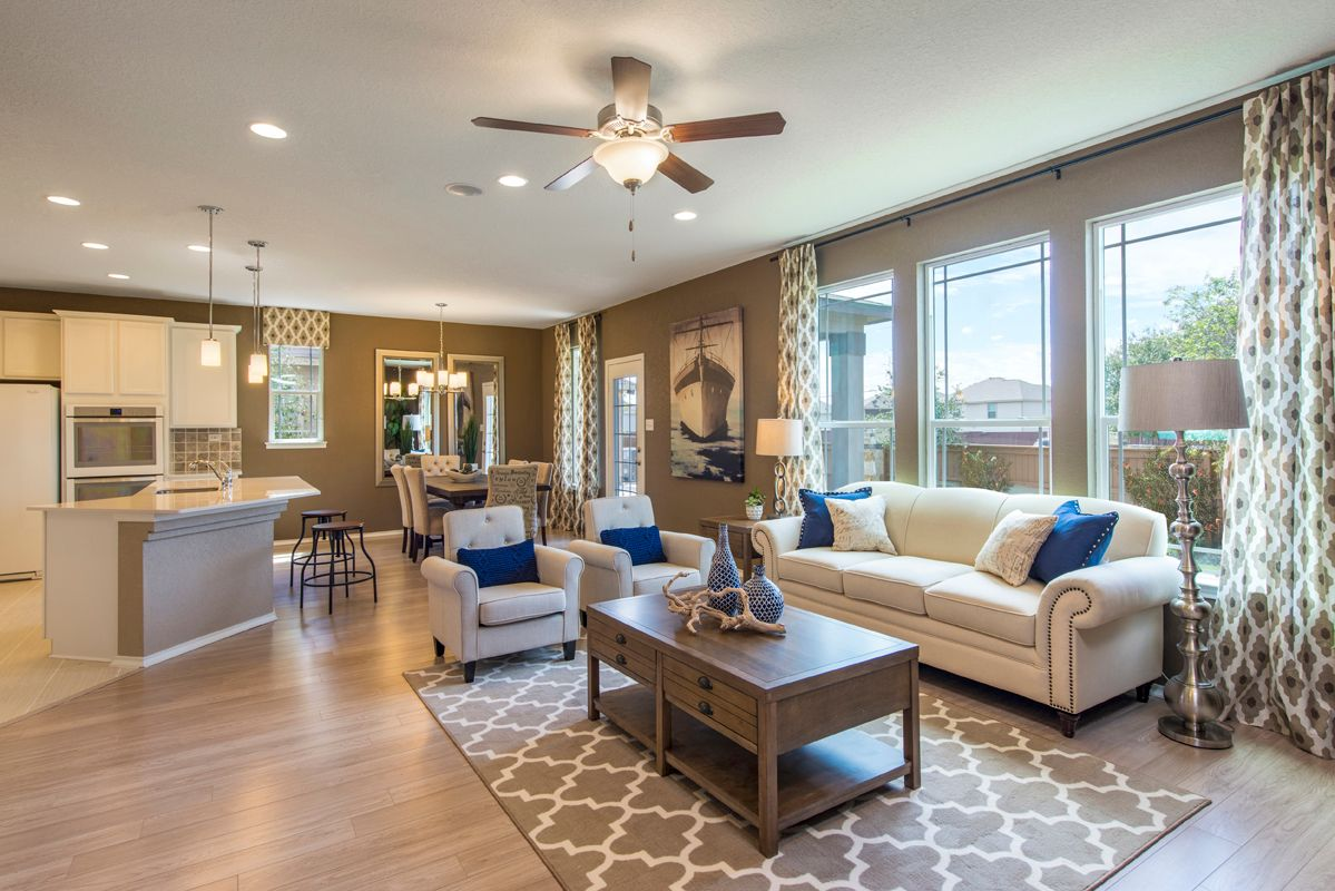 Living Area featured in the Plan 2403 Modeled By KB Home in San Antonio, TX