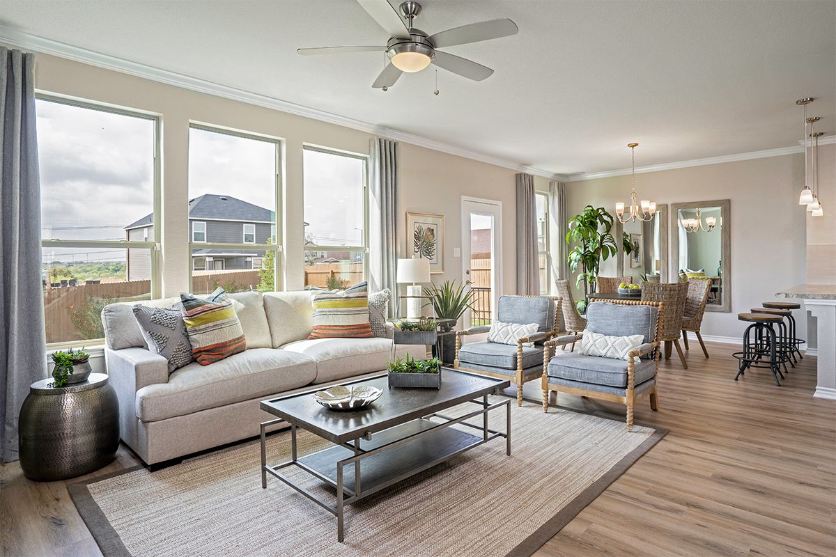 Living Area featured in the Plan 1780 By KB Home in San Antonio, TX