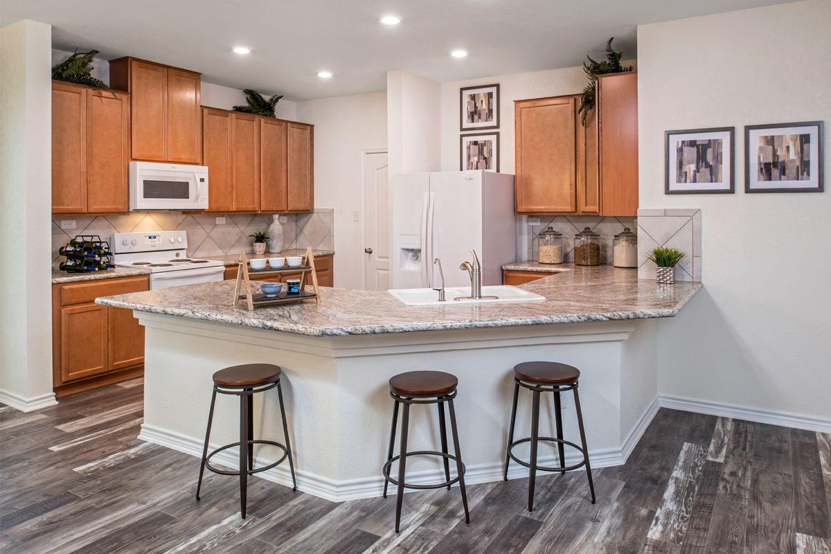 Kitchen featured in the Plan 1647 Modeled By KB Home in San Antonio, TX