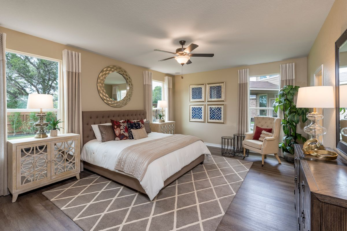 Bedroom featured in the Plan 3417 By KB Home in San Antonio, TX