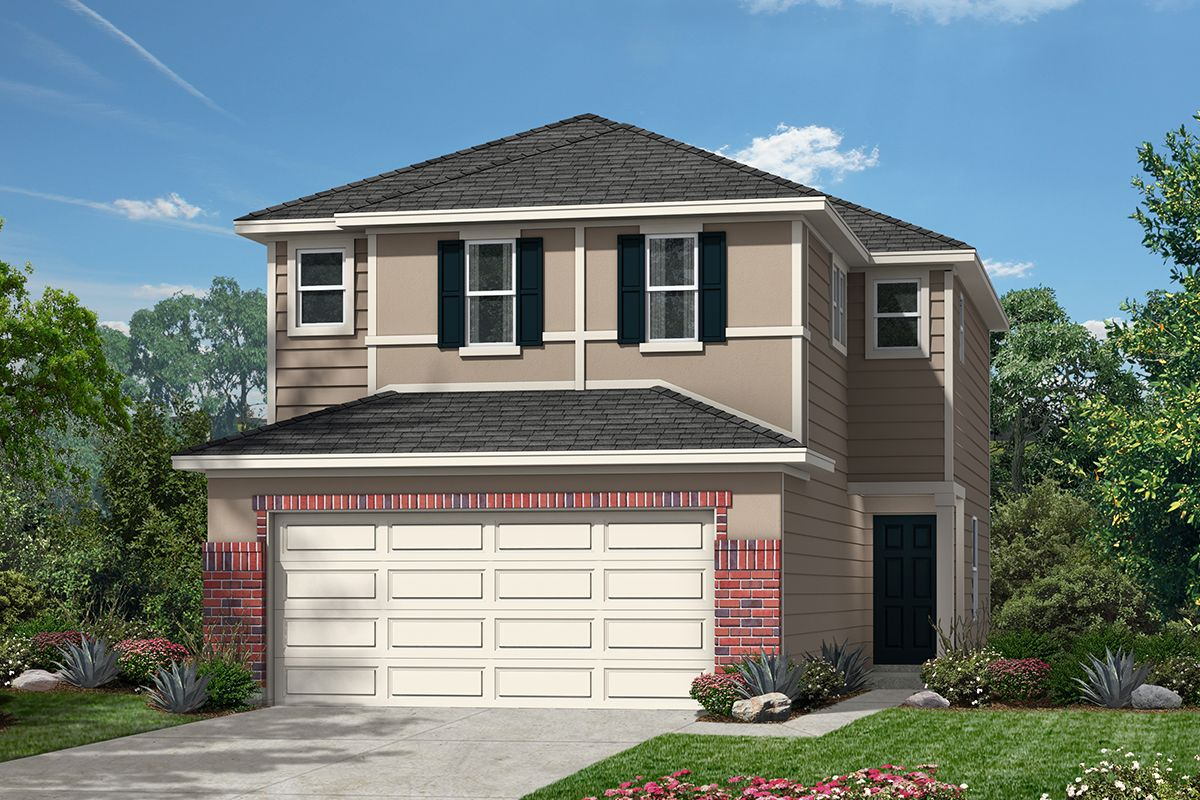 Exterior featured in the Plan 1520 Modeled By KB Home in San Antonio, TX