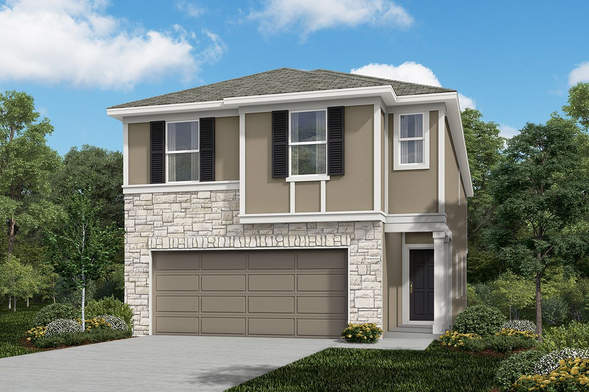 Exterior featured in the Plan 2315 By KB Home in San Antonio, TX