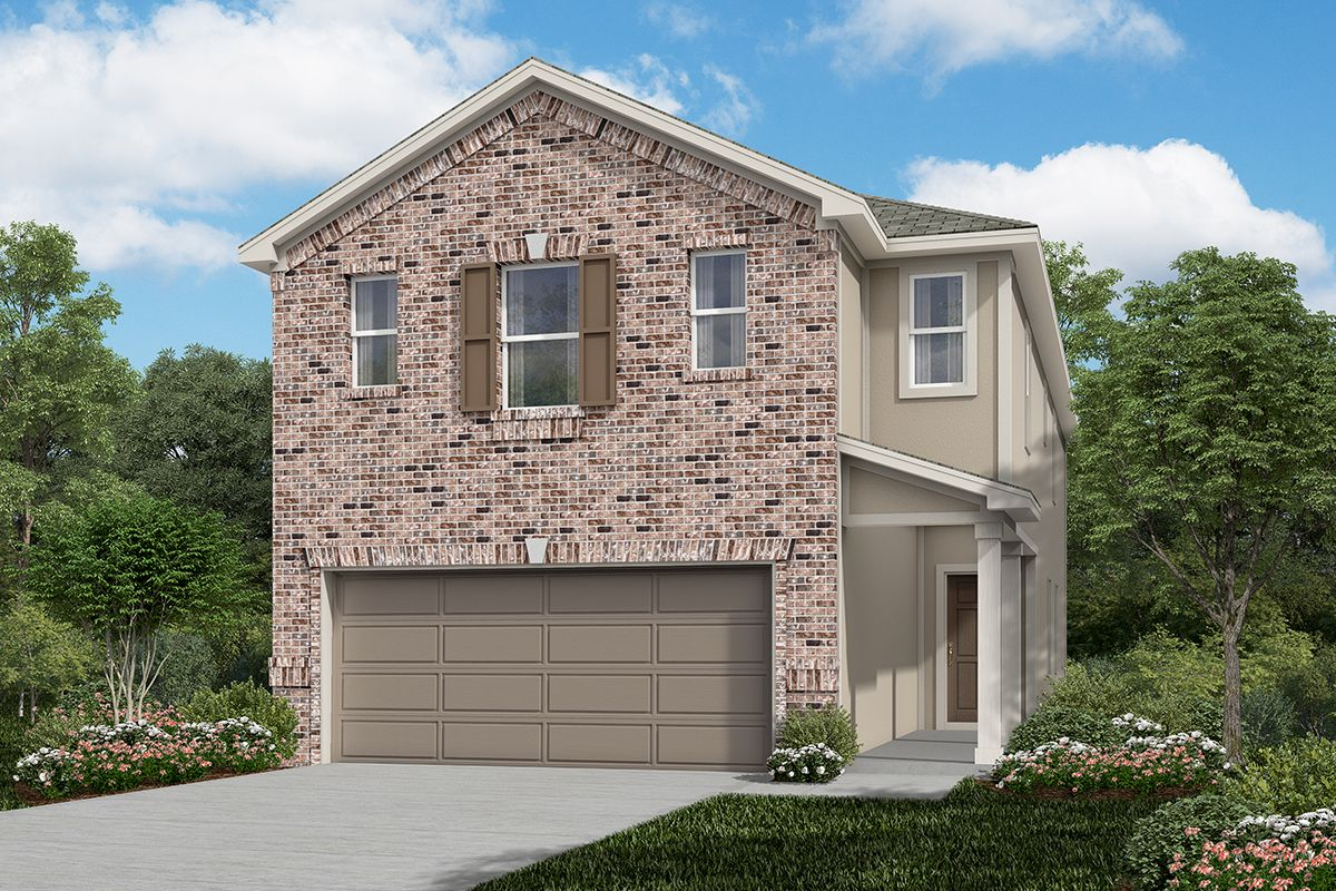 Exterior featured in the Plan 2211 By KB Home in San Antonio, TX