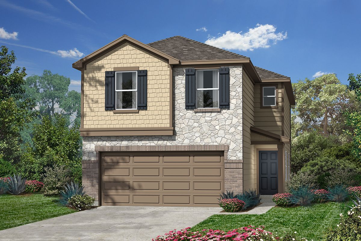 Exterior featured in the Plan 1930 By KB Home in San Antonio, TX