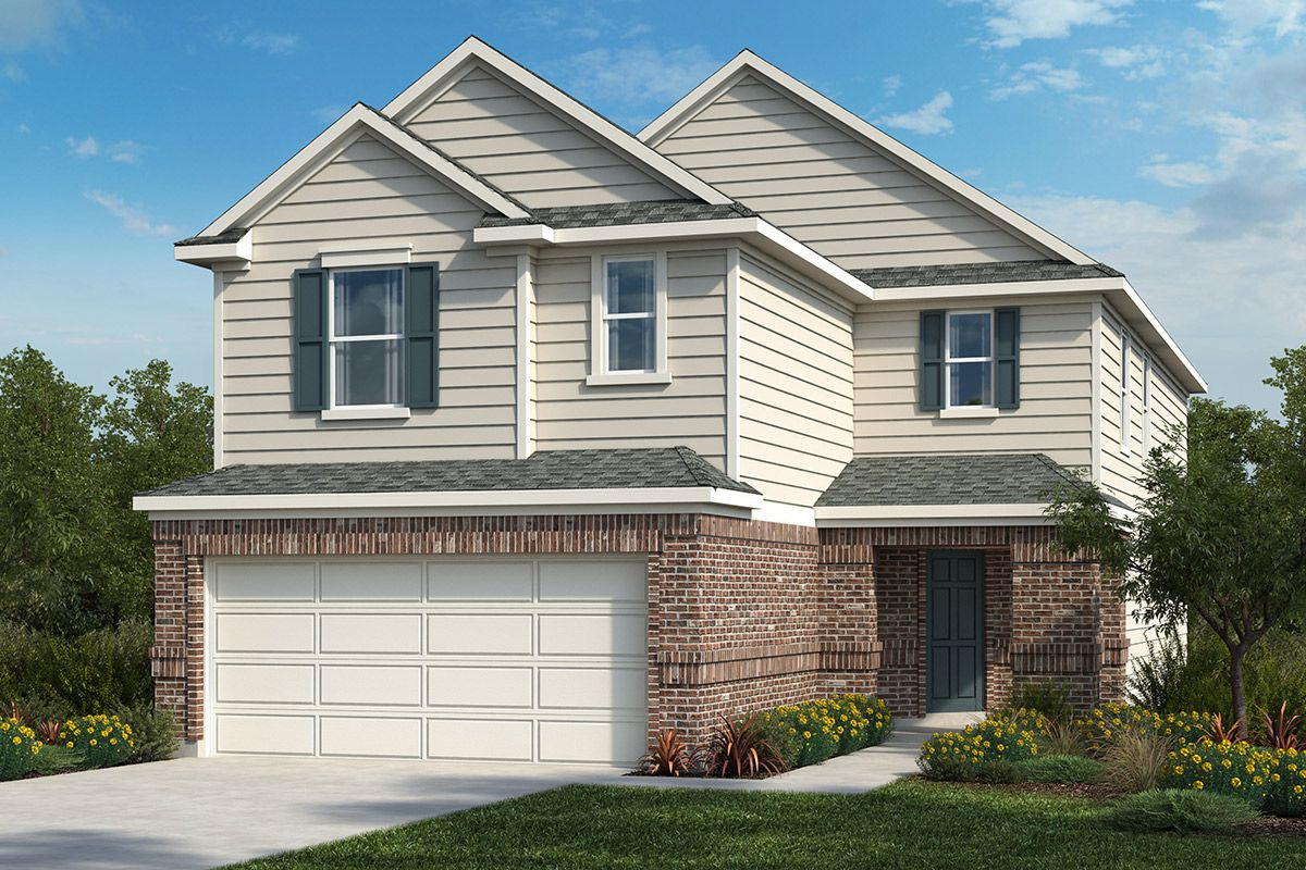 Exterior featured in the Plan 2708 By KB Home in San Antonio, TX
