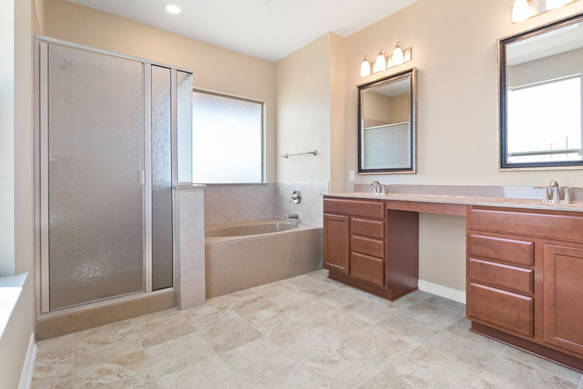 Bathroom featured in the Plan 2382 By KB Home in San Antonio, TX