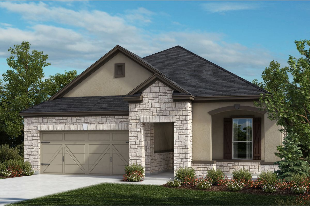 Exterior featured in the Plan 1965 By KB Home in San Antonio, TX