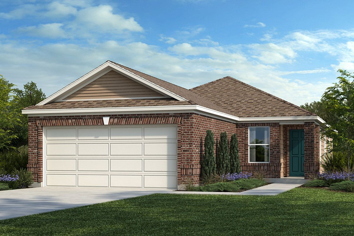 Exterior featured in the Plan 1377 By KB Home in San Antonio, TX