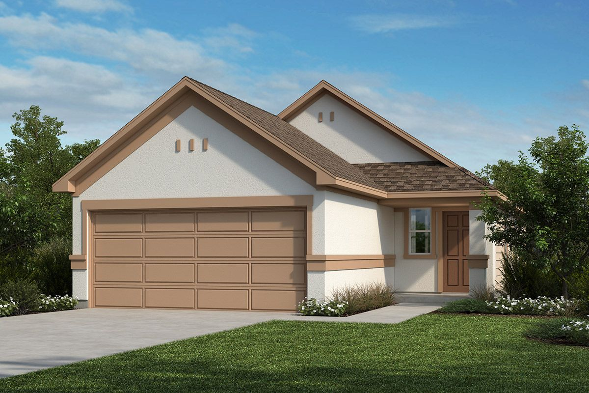 Exterior featured in the Plan 1042 By KB Home in San Antonio, TX