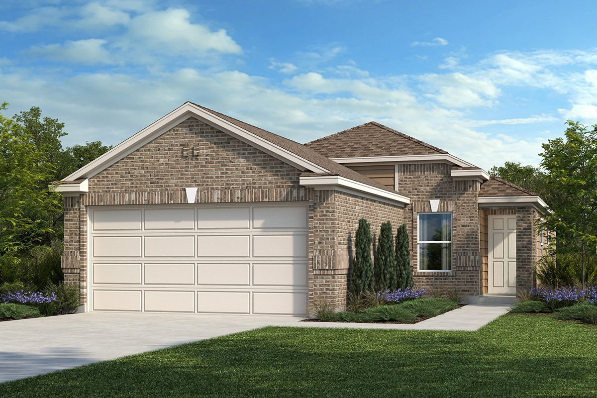 Exterior featured in the Plan 1242 By KB Home in San Antonio, TX
