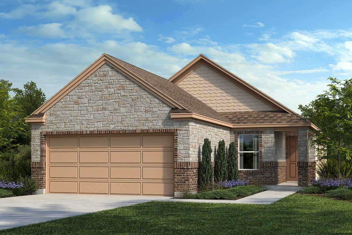 Exterior featured in the Plan 1604 By KB Home in San Antonio, TX