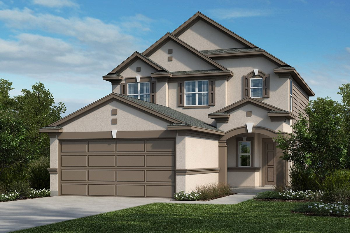 Exterior featured in the Plan 1609 By KB Home in San Antonio, TX