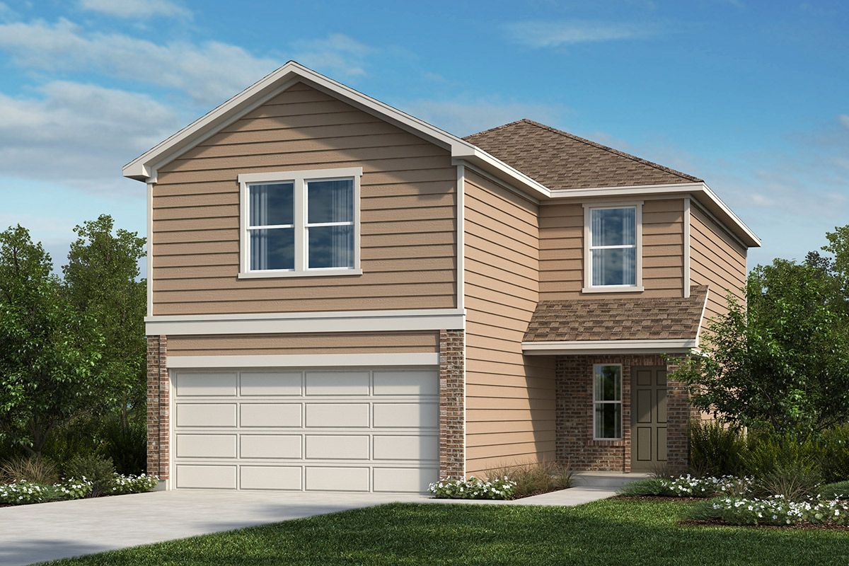 Exterior featured in the Plan 1780 By KB Home in San Antonio, TX