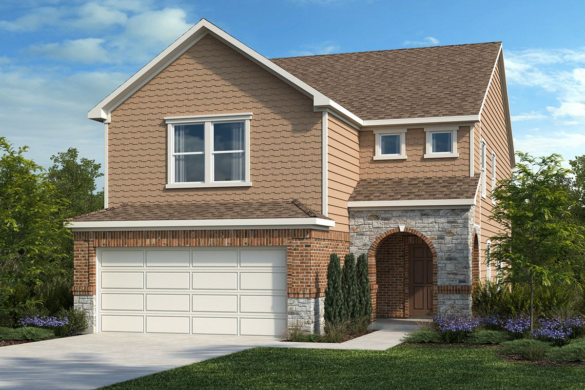 Exterior featured in the Plan 2586 By KB Home in San Antonio, TX