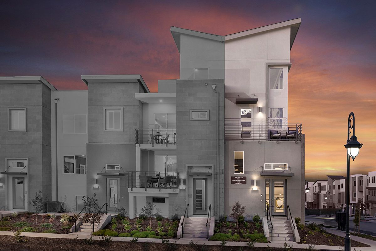 Exterior featured in the Plan 2 Modeled By KB Home in San Jose, CA