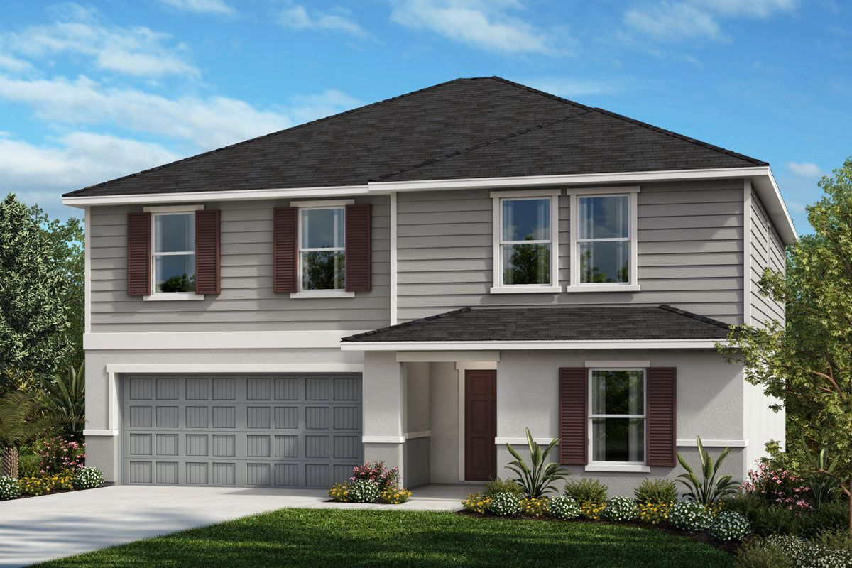 Exterior featured in the Plan 2566 By KB Home in Tampa-St. Petersburg, FL