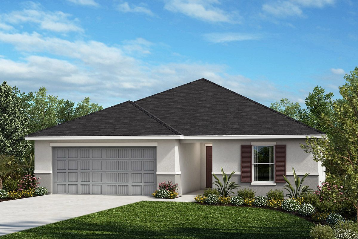 Exterior featured in the Plan 1707 By KB Home in Tampa-St. Petersburg, FL