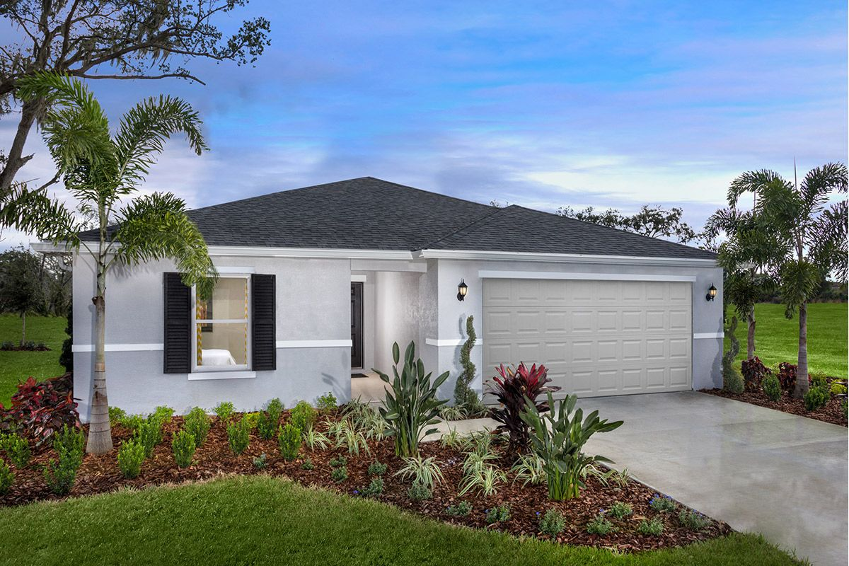 Exterior featured in the Plan 1707 Modeled By KB Home in Tampa-St. Petersburg, FL