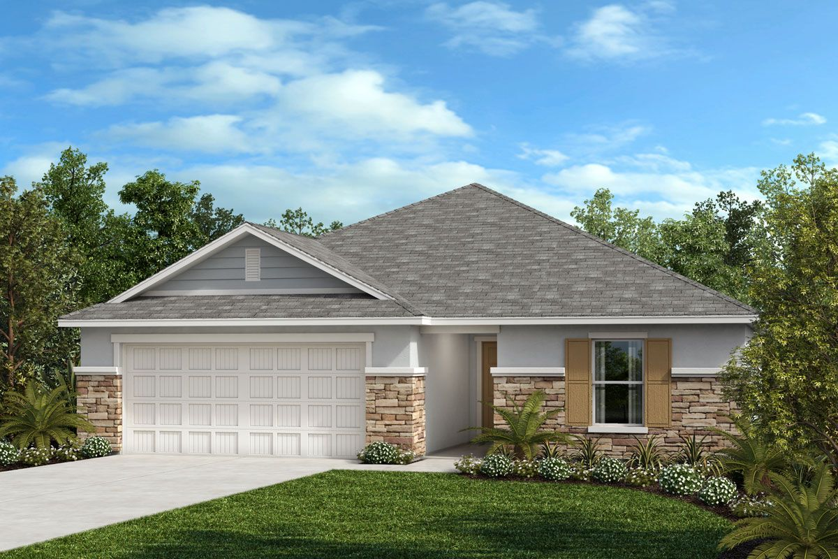 Exterior featured in the Plan 1707 By KB Home in Sarasota-Bradenton, FL
