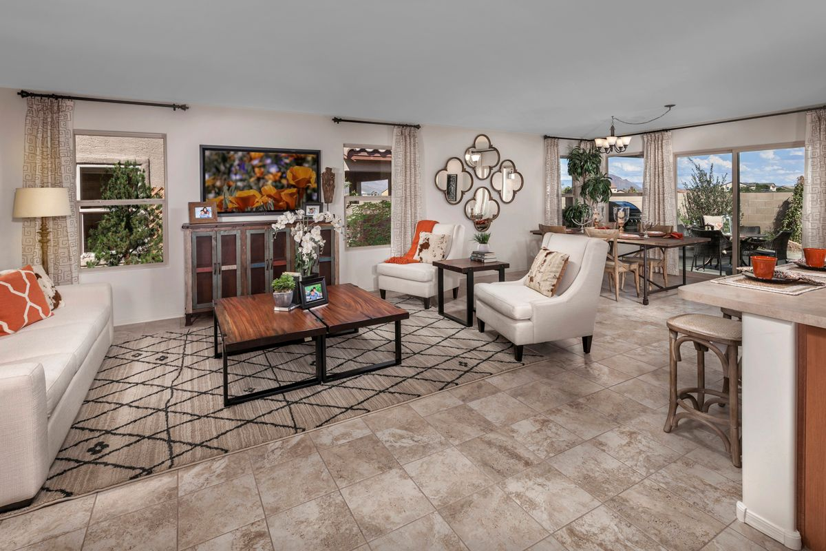 Living Area featured in the Plan 1849 Modeled By KB Home in Tucson, AZ