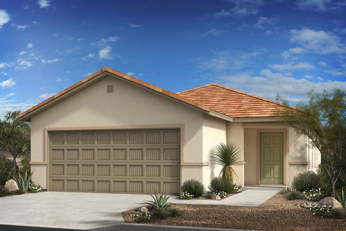 Exterior featured in the Plan 1231 By KB Home in Tucson, AZ