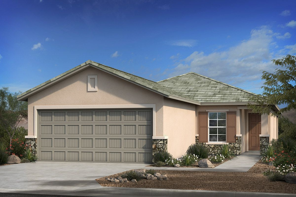 Exterior featured in the Plan 1465 By KB Home in Tucson, AZ