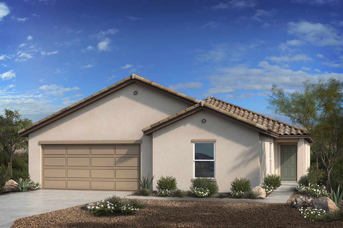 Exterior featured in the Plan 2013 Modeled By KB Home in Tucson, AZ