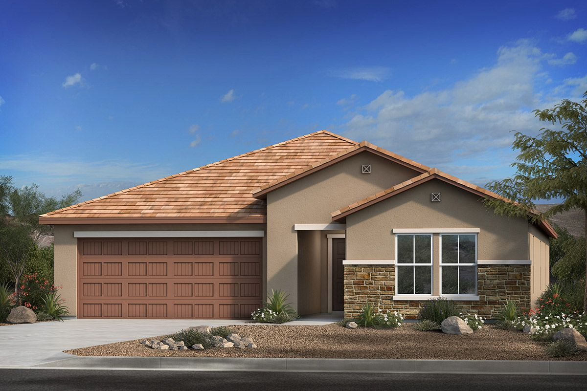 Exterior featured in the Plan 2314 By KB Home in Tucson, AZ