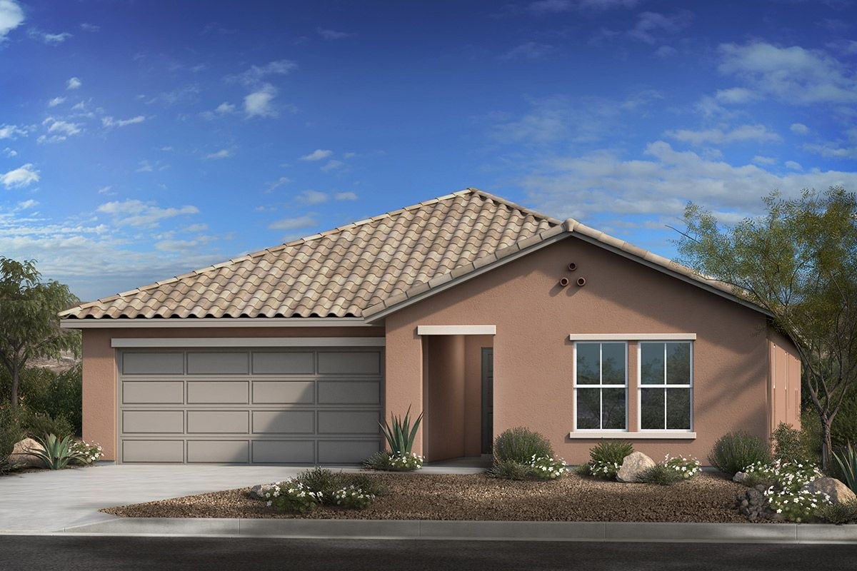 Exterior featured in the Plan 2591 By KB Home in Tucson, AZ
