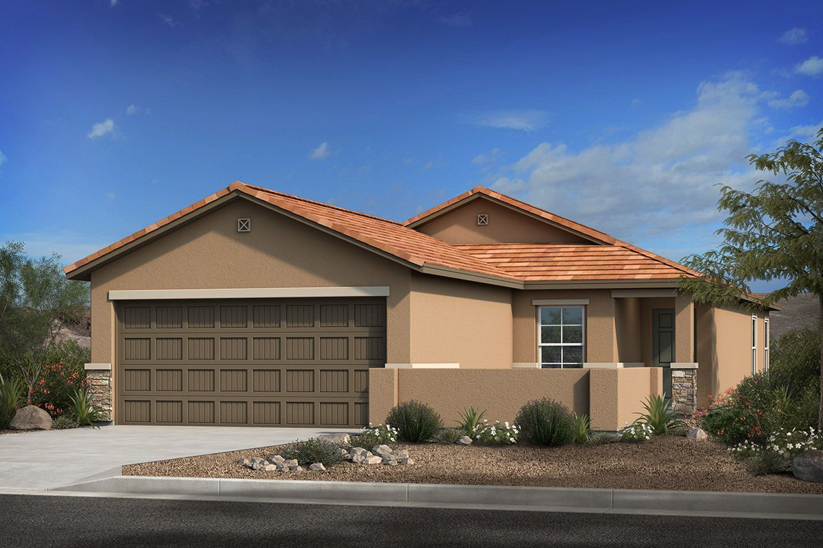 Exterior featured in the Plan 1745 Modeled By KB Home in Tucson, AZ