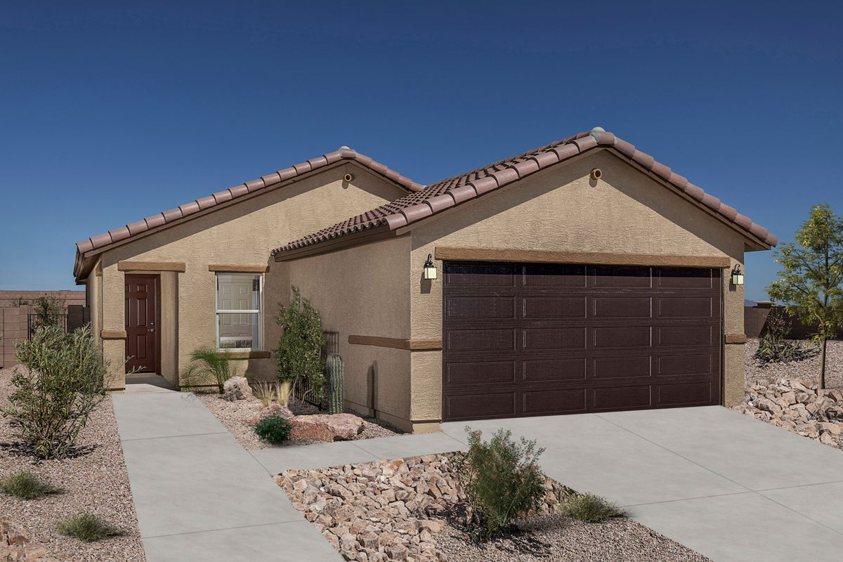 Exterior featured in the Plan 1465 Modeled By KB Home in Tucson, AZ