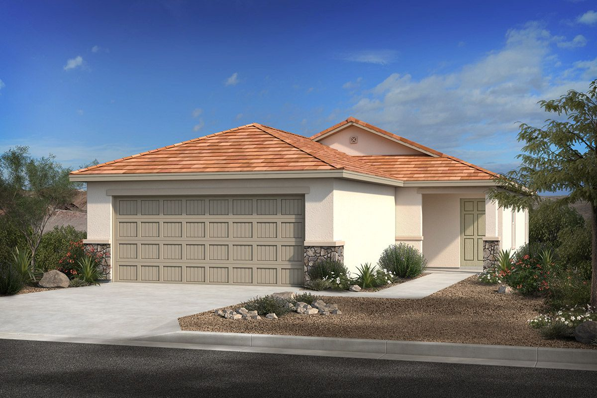 Exterior featured in the Plan 1262 By KB Home in Tucson, AZ
